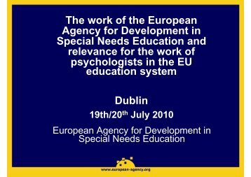 European Agency for Development in Special Needs ... - Nepes