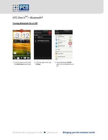 HTC One V – Bluetooth® - US Cellular