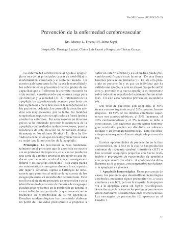Prevención de la enfermedad cerebrovascular. - Academia ...