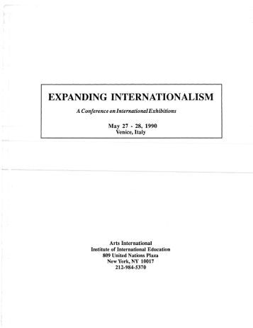 Expanding Internationalism - A Conference on ... - Mary Jane Jacob