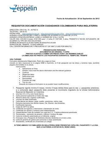 REQUISITOS DOCUMENTACION PARA