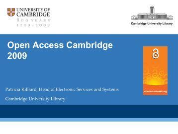 Presentation - Cambridge University Library
