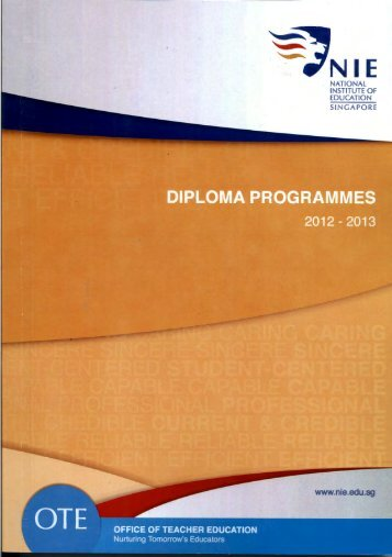 Two-year programme - NIE Digital Repository - National Institute of ...