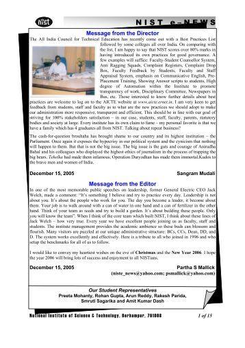 NIST e-NEWS(Vol 37, Dec 15, 2005)