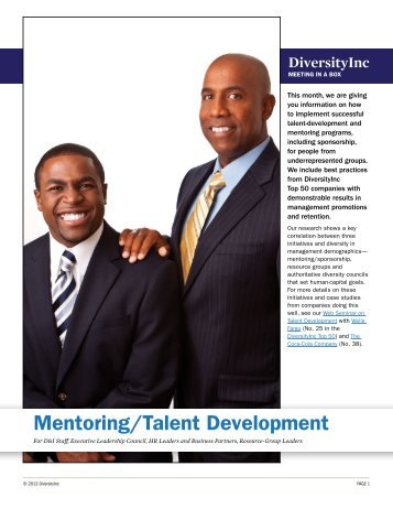 Mentoring/Talent Development - DiversityInc Best Practices