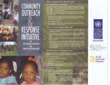SGP Brochure - UNDP Trinidad and Tobago