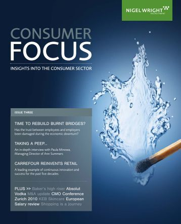 Consumer Focus magazine – Issue 3 - Nigel Wright