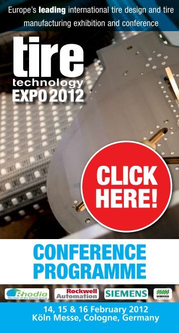 CONFERENCE PROgRammE - Tire Technology Expo