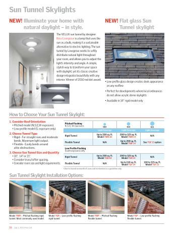 English supplementary instructions for flashing of for Velux sun tunnel installation manual