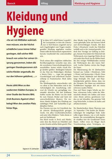 Barock Kleidung und Hygiene Alltag