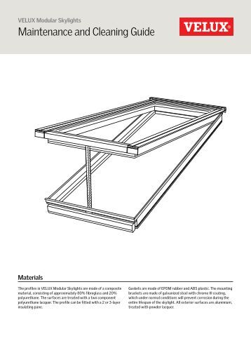 Aama 609 610 02 cleaning and maintenance alumatherm for Cleaning velux skylights