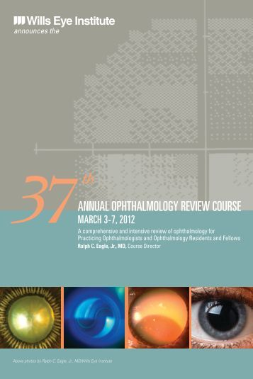 Wills Ophthalmology Review Course | Wills Eye Hospital
