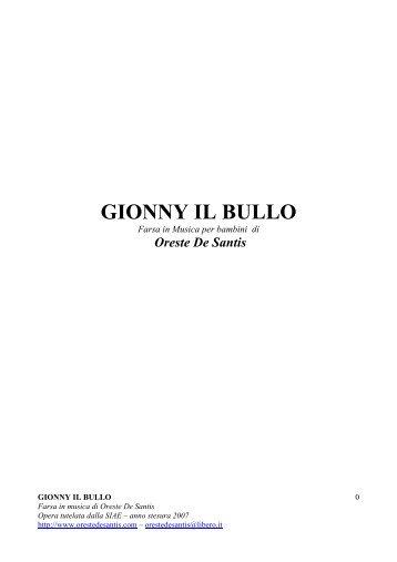 GIONNY IL BULLO - Maestra Sabry