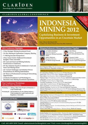 indonesia mining 2012 - Clariden Global