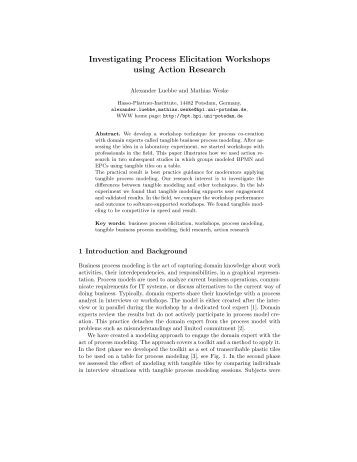 Investigating Process Elicitation Workshops using Action Research