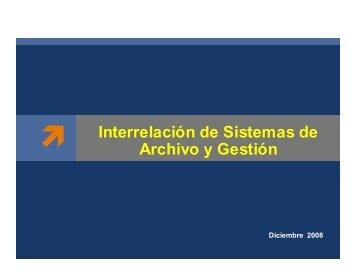 Interrelación de Sistemas de Archivo y Gestión - Archivo General de ...