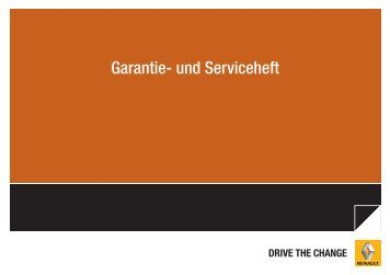 Gültig für Renault Modelle ab 01.01.2011