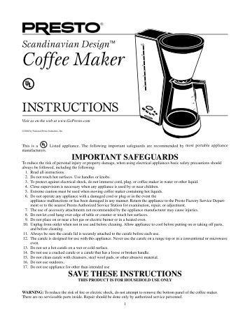 Russell Hobbs Abbey Lane Coffee Maker (Model #RHG601)