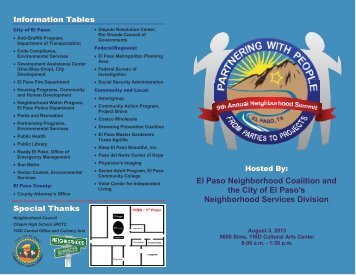 El Paso Neighborhood Coalition and the City of El Paso's ...