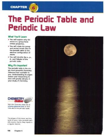 Printables Chapter 6 Periodic Trends Practice 2 groups and chapter 6
