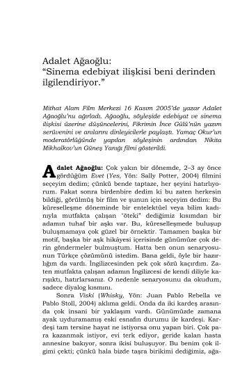 Adalet Ağaoğlu - Mithat Alam Film Merkezi