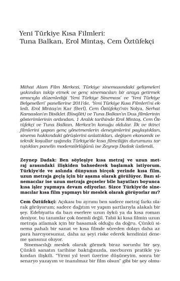 Yeni Türkiye Kısa Filmleri - Mithat Alam Film Merkezi
