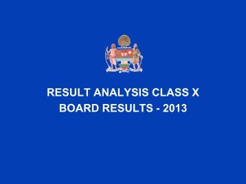 RESULT ANALYSIS CLASS X BOARD RESULTS ... - Mayo College