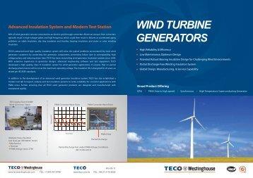 Wind Turbine Generators - TECO-Westinghouse Motor Company
