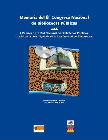 Memoria del Octavo Congreso Nacional de Bibliotecas Públicas