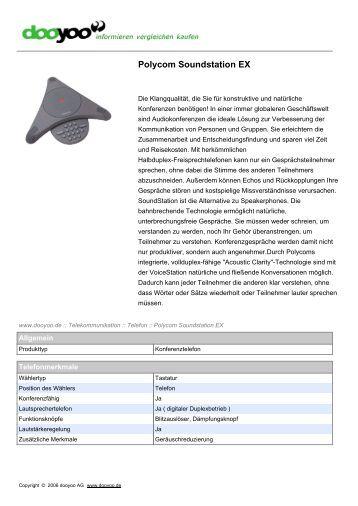 Polycom SoundStation Duo Konferenztelefon Kurzanleitung ...