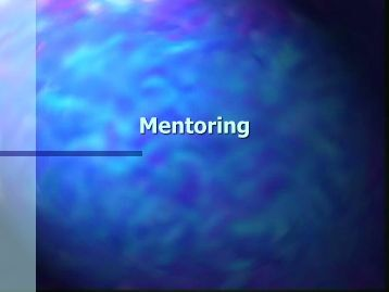 What is a Mentor - The INCLEN Trust