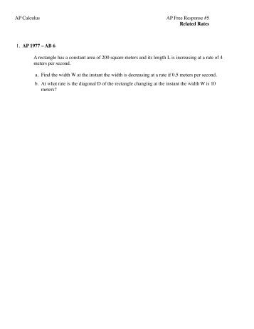 ap physics b 1977 free response Ap physics practice test: work, energy, conservation of energy ©2011, richard white wwwcrashwhitecom part ii free response 6 a block of mass m rests on a rough surface, and has a light spring of spring constant k and unstretched.