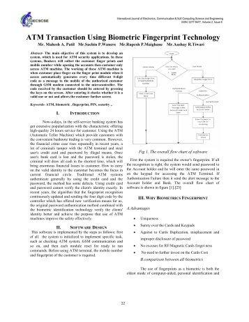 a survey on fingerprint verification algorithms Technologies on the market: face-recognition, fingerprint recognition, finger   algorithms  [2] a survey of biometric recognition methods  kresimir.