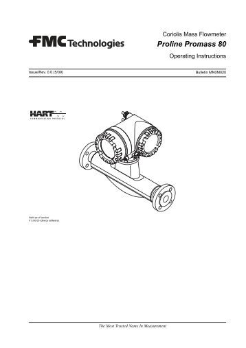 endress hauser promass 83 operating manual