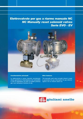 NC Manually reset solenoid valves Serie EVO - EV - Watts Industries