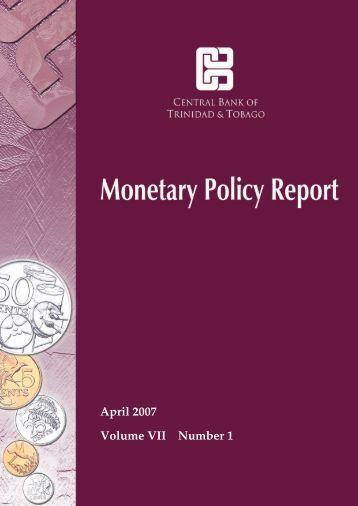 April 2007 Report - Central Bank of Trinidad and Tobago