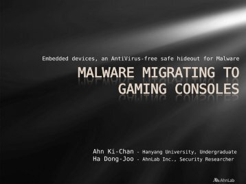 MALWARE MIGRATING TO GAMING CONSOLES