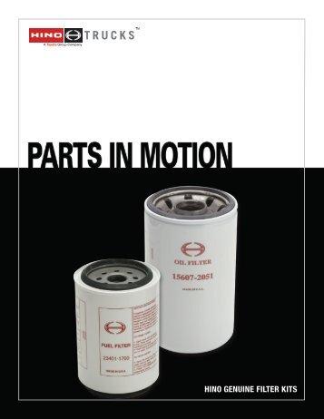 hino genuine filter kits will keep your business - Hino Trucks