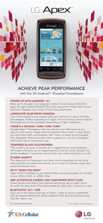 ACHIEVE PEAK PERFORMANCE - US Cellular
