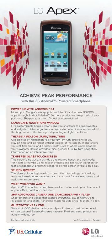 ACHIEVE PEAK PERFORMANCE - US Cellular