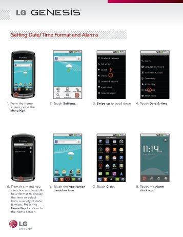 Setting Up Clock and Alarms - US Cellular