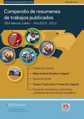 Presentación de resumen para publicación anual - INTA