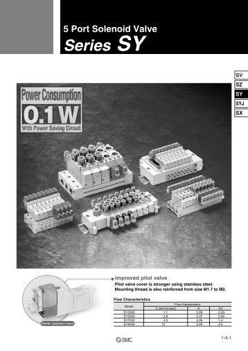 SMC SY3000 Series Solenoid Valve Specs