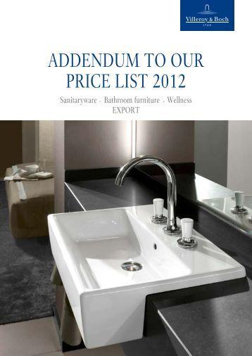 ADDENDUM TO OUR PRICE LIST 2012 - Sidabrinis krioklys