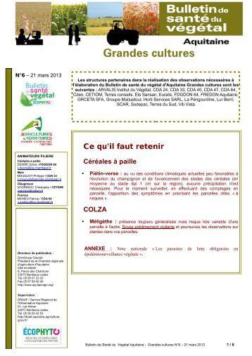 7 bsv zna s 25 chambre d 39 agriculture de champagne ardenne - Chambre d agriculture de la gironde ...