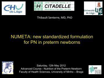 NUMETA: new standardized formulation for PN in preterm newborns