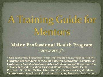 Mentor's - Maine Medical Association