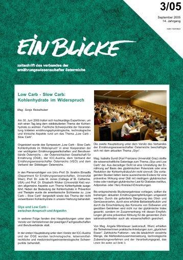 3/05 - Verband der Ernährungswissenschafter Österreichs