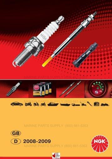 NGK catalogue 2008 / 2009  - Marine Parts Supply