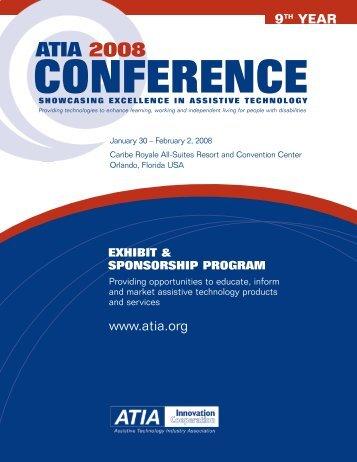 2008 Exhibitor and Sponsorship Prospectus (PDF) - Assistive ...